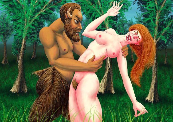 """Primavera, exuberância cromática, Amor e Desejo, masculino e feminino. """"Sátiro e Ninfa""""."""