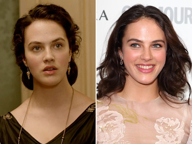 """Jessica Brown Findlay is a beauty in any era, so it's not a shock to see she's equally stunning as """"Downton's"""" Lady Sybil and on the red carpet."""