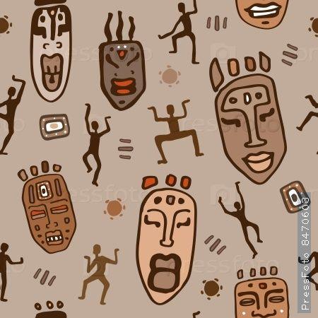 Африканских этнических шаблон