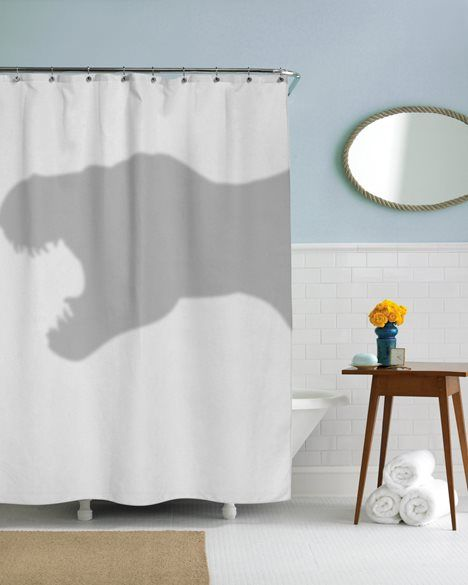 T-Rex Shower Curtain - So funny! Tyrannosaurus dinosaur #product_design