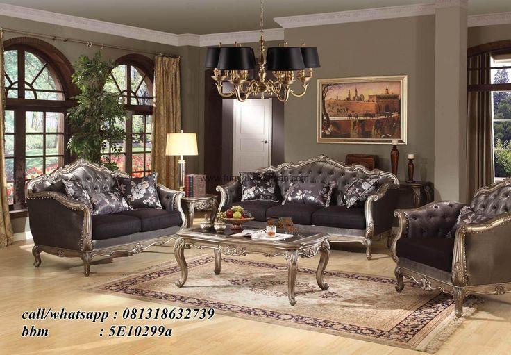 Kursi Tamu Sofa Mewah Elegant Klasik-yang satu ini merupakan salah satu desain sofa tamu modern yang bisa menjadi pilihan untuk ruang tamu anda.