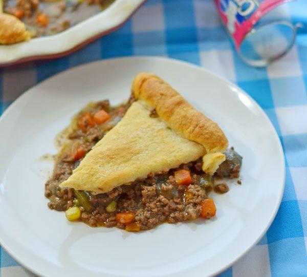 hearty pot pie full of beefy flavor. | Beef Pot Pie Recipe ...