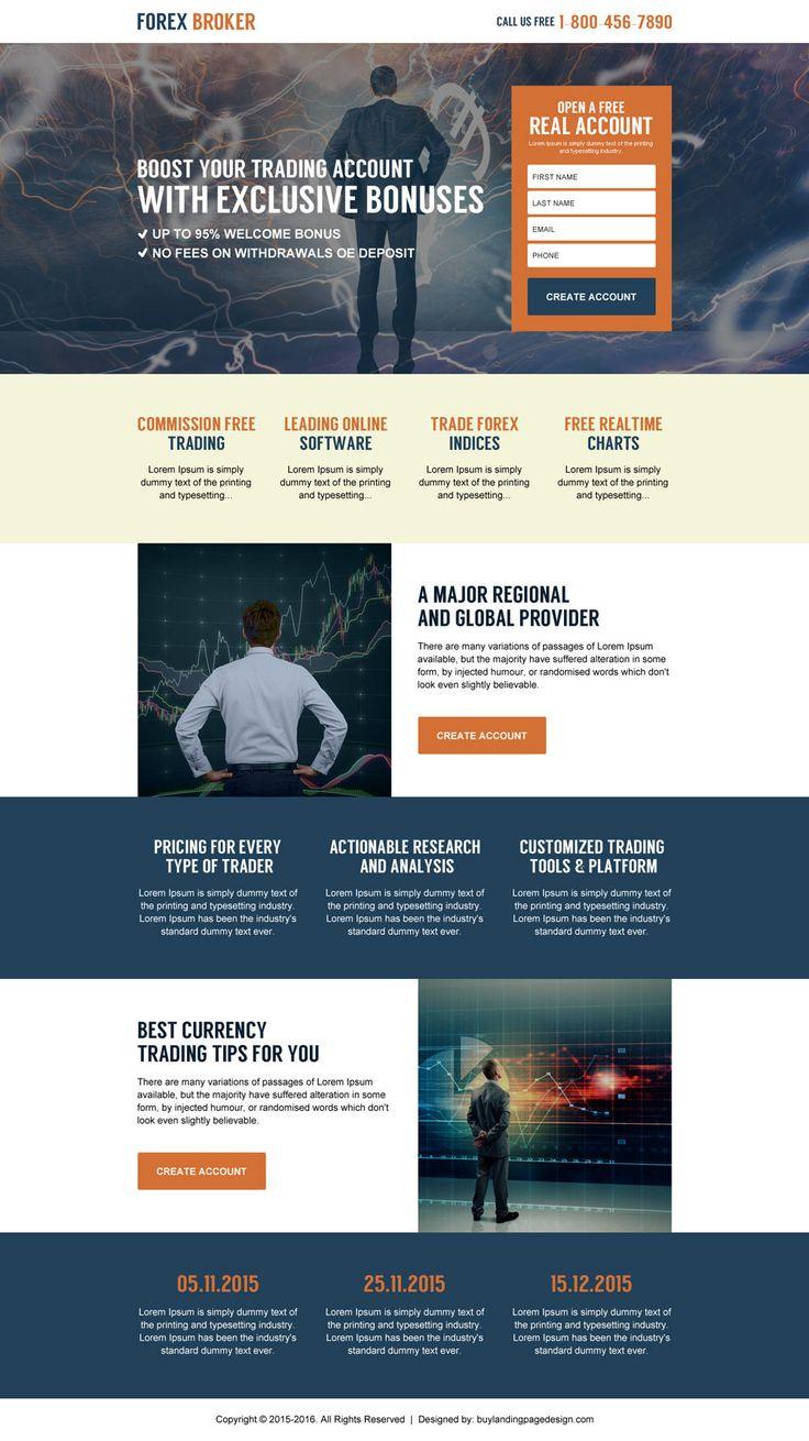 forex broker free account lead generating landing page design
