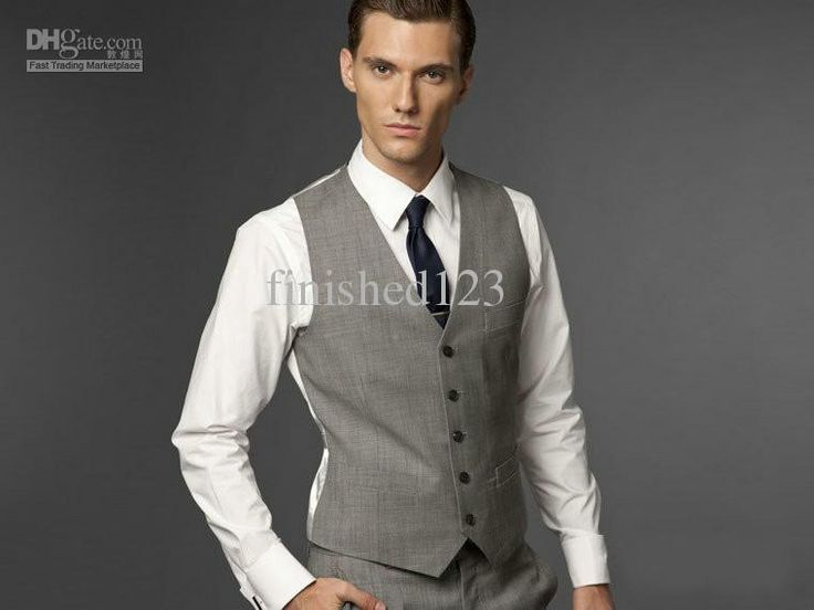 Hot Sale Light Grey Formal Men'S Waistcoat New Arrival Fashion Groom Vests Casual Slim Fit Vest No:88 Wedding Waistcoats Discount Mens Clothing From Finished123, $24.09| Dhgate.Com