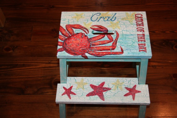 1000 Images About Painted Stools On Pinterest Wooden