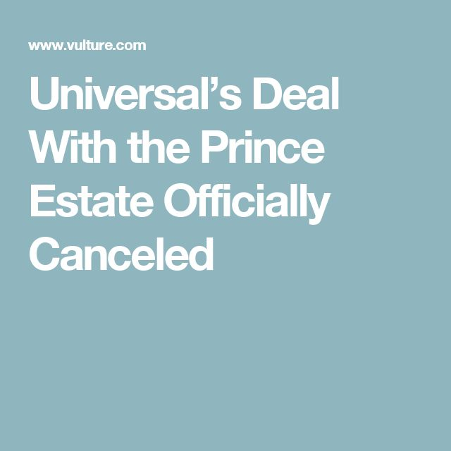 Universal's Deal With the Prince Estate Officially Canceled
