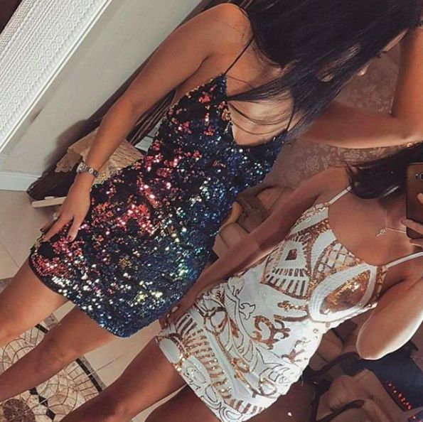 White & Gold Sequin Party Dress #Fashion #rompers #DreamClosetCouture #dresses #love