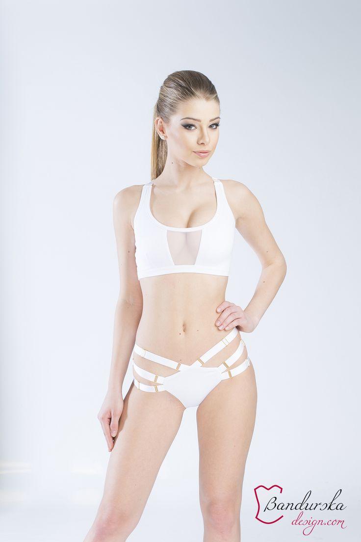 Bandurska design  www.bandurska-design.com #minimal #activewear #swimsuit #polewear #yogawear #whiteaddict #minimalstyle #swimwear #cagedbra #lingerie #strappy