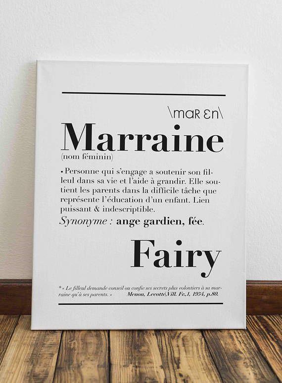 Affiche Définition Marraine Texte Bapteme Marraine