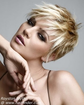 I kind of like this look... not that I could pull it off but I like the short messy thing...I'm thinking yes