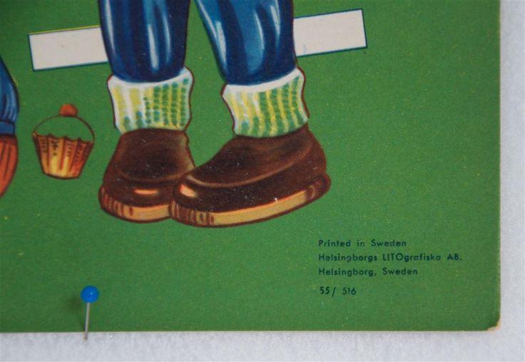 CARMINA helt ark med 50-talets barnmode på Tradera.com - Klippdockor |