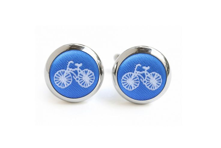 Hannmaid @hardtofind, Bicycle Cufflinks ($55.00)