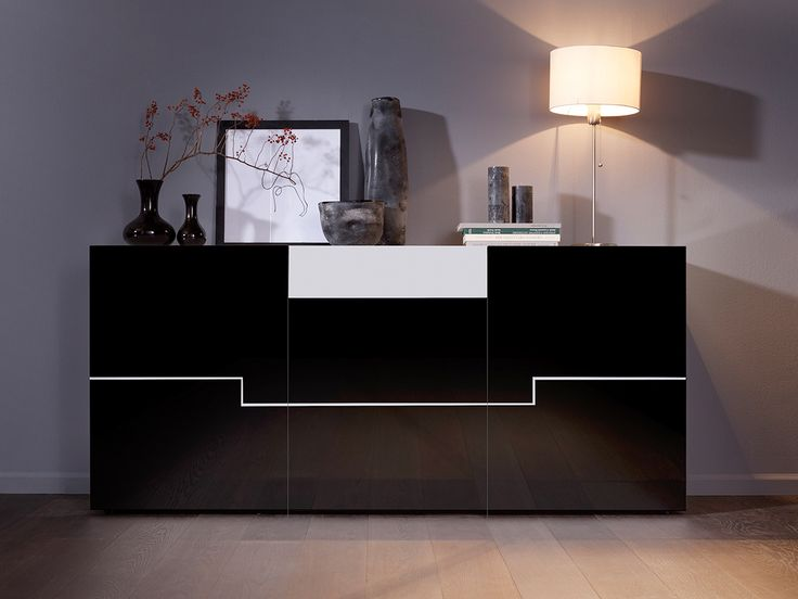 sideboard hochglanz schwarz bestseller shop f r m bel und einrichtungen. Black Bedroom Furniture Sets. Home Design Ideas