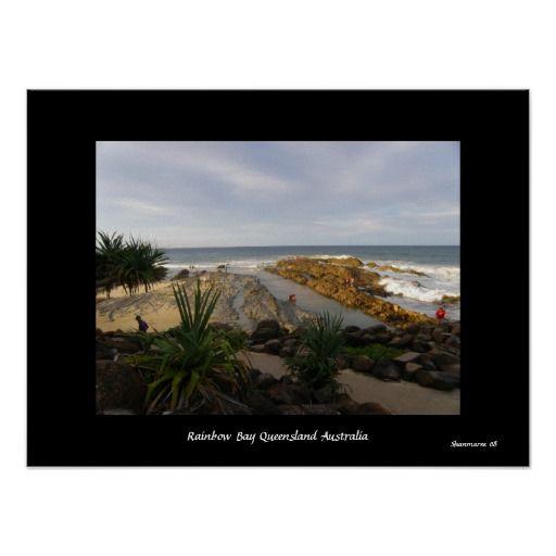 Poster At Rainbow Bay Queensland  Australia