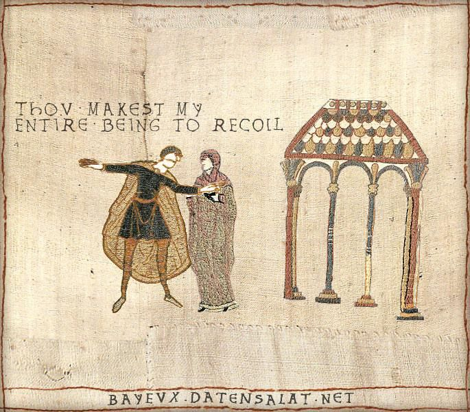 """You repel me.""-Medieval Shakespeare-HAHA these are too good! hilarious."