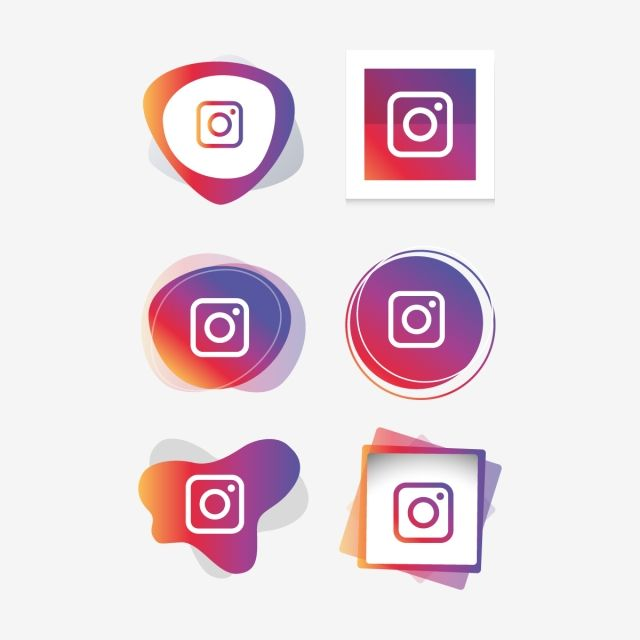 Instagram Logo Instagram Icon Collection Set Social Media Vector Illustrator Instagram Icons Social Icons Logo Icons Png And Vector With Transparent Backgrou Instagram Logo Social Icons Logo Design Free Templates