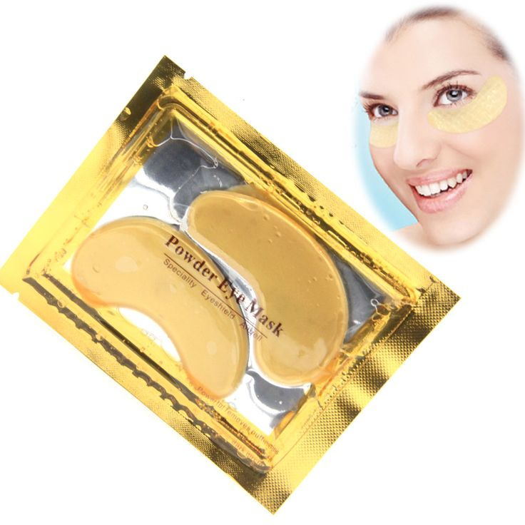 $1.69 Find More Masks Information about 5 Pairs Beauty Gold Crystal Collagen Eye Mask…