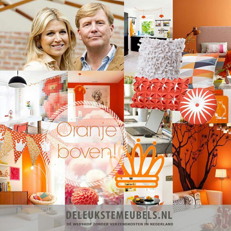 Oranje boven! Oranje in je interieur is helemaal hip. Niet alleen met koningsdag of tijdens het WK, iedere dag maakt het je blij..Direct bekijken: http://www.deleukstemeubels.nl/nl/oranje/s/