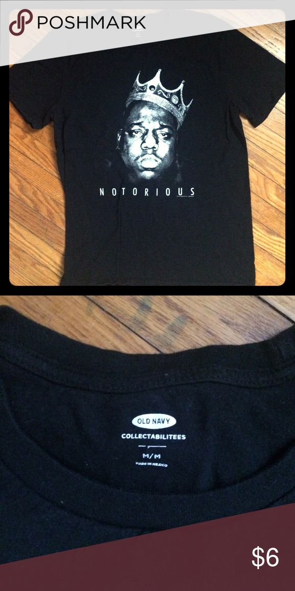 Old Navy Notorious BIG Black T-Shirt Old Navy Notorious BIG Black T-Shirt - Unisex - would look great with simple jeans and some Chucks Old Navy Shirts Tees - Short Sleeve