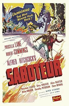 Saboteur (1942) Robert Cummings, Prisilla Lane, Otto Kruger, Norman Lloyd