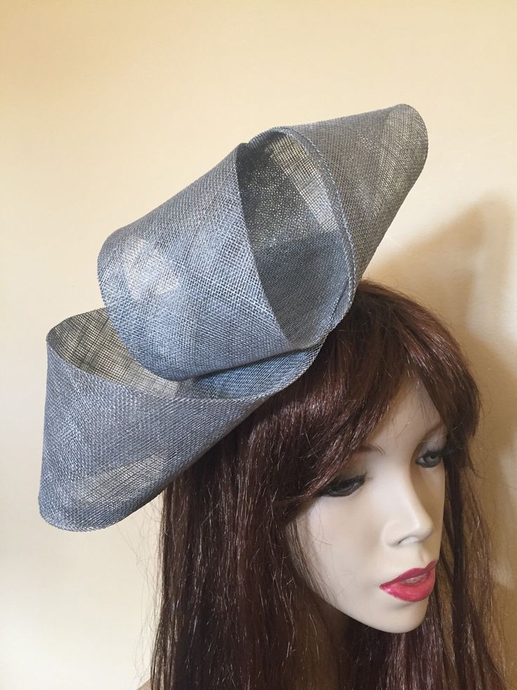 Silver Grey fascinator hat headpiece, perfect for the races or a wedding, pewter hatinator by TwistFashion on Etsy https://www.etsy.com/listing/270598374/silver-grey-fascinator-hat-headpiece