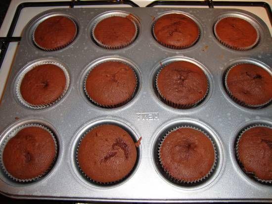 Roodfluwelen cupcakes (Hummingbird).