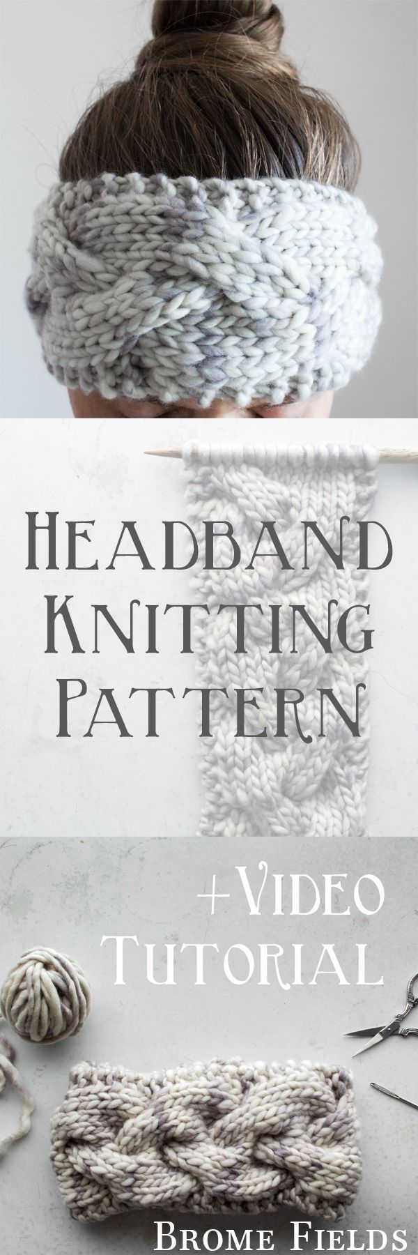 Headband Knitting Pattern : Braided Cable Knit Sti…