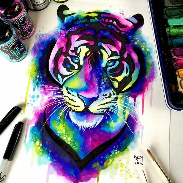 Tiger Painting By