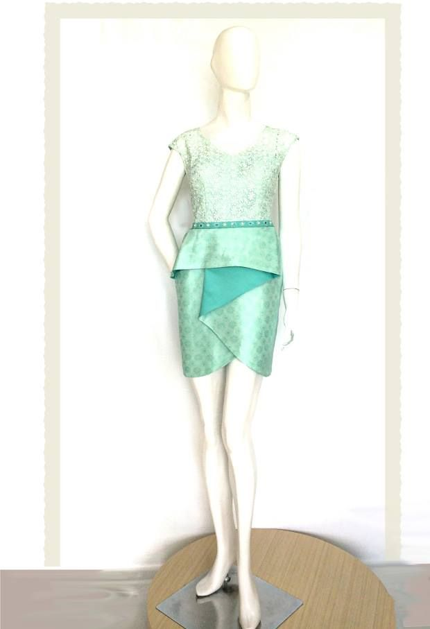Cindy Dress in Spring Mint.  For pricing, sizing, and ordering details please email us at nmayinda@gmail.com, Whatsapp us at 081299331039, or BB us at 2B07B968.