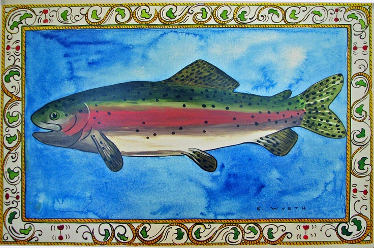 Ellie Wyeth, Place Mat - Fish w Italian Border