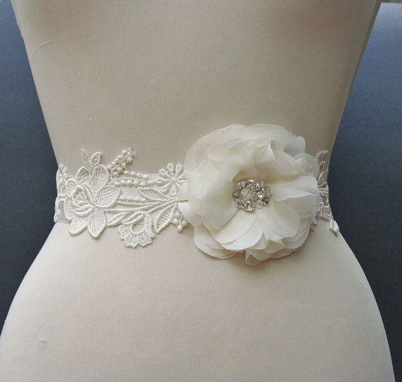 ivory bridal sash wedding belt satin ribbon by