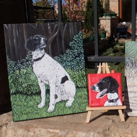 """56 Likes, 3 Comments - Christa (@oilpaintingschrista) on Instagram: """"Dog portrait #dogoftheday #dogs #oilpaintingschrista #painting #canvas #art #memorial #gifts…"""""""
