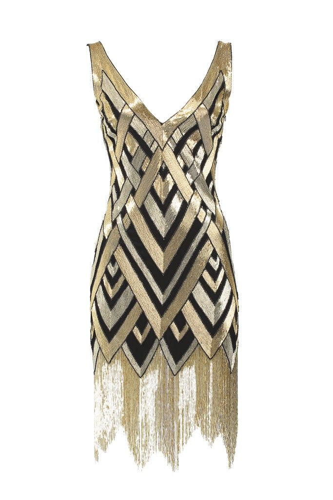 Bergdorf Goodman's Anniversary Collection: Naeem Khan's silk georgette dress with metallic glass beads.