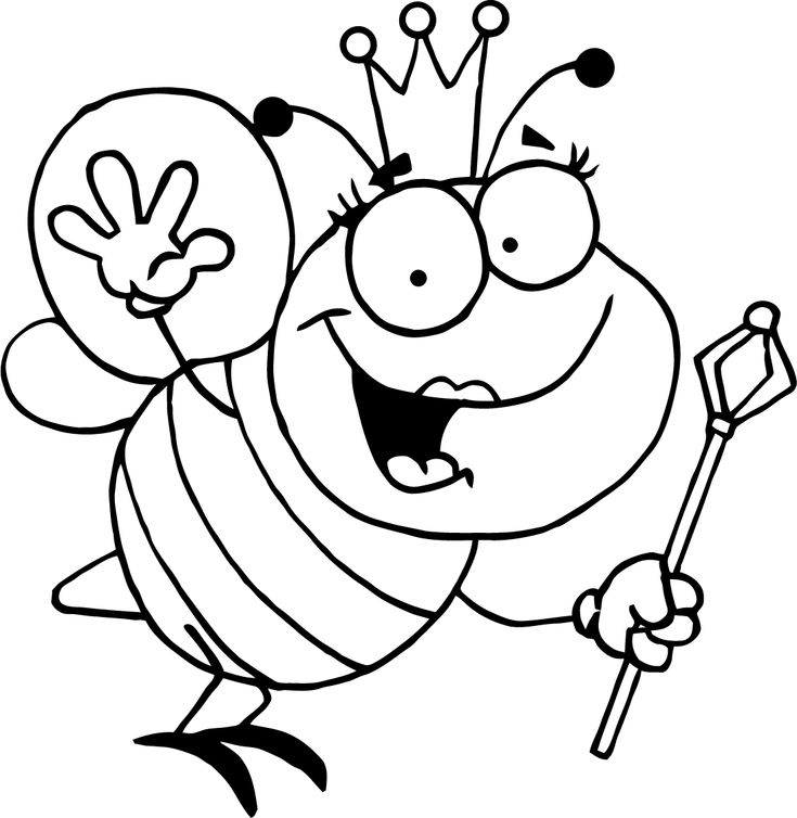 free printable bumble bee coloring pages for kids - Bumble Bee Coloring Page