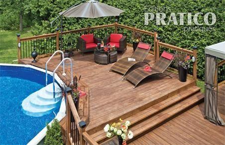 Deck pour piscine hors terre outdoor pinterest - Amenagement piscine hors terre ...