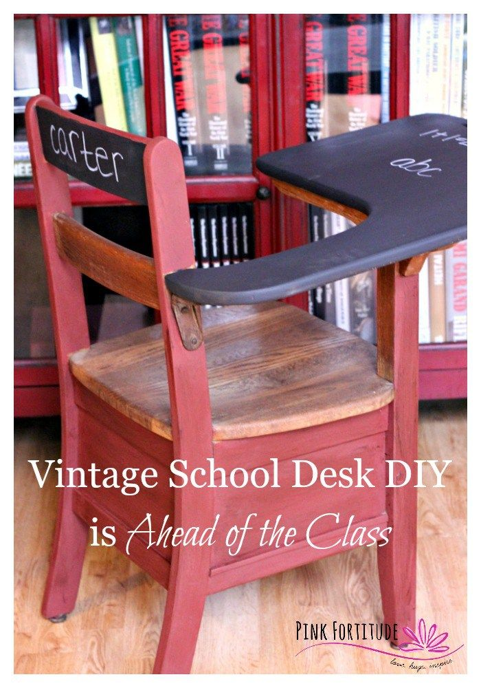Old School Desk Makeover Tutorial