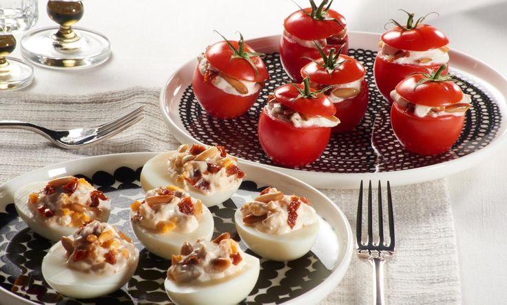 Gefüllte Tomaten und gefüllte Eier Rezept   Dr. Oetker