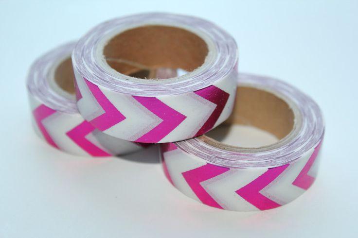 Masking tape roze-wit shiny!  from studio Stationery www.pippikokel.nl