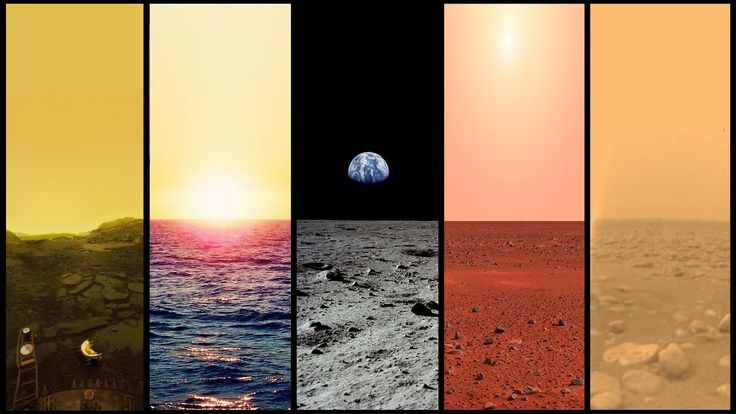 Venus.Earth.Moon.Mars.Titan