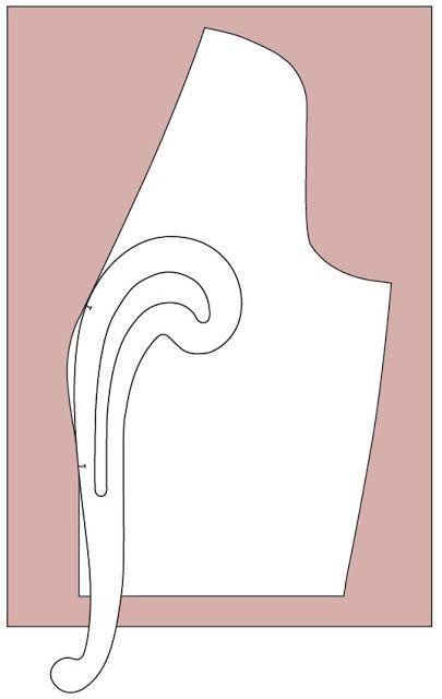 Jennifer Lauren Vintage Juniper Cardigan: für offenen Cardigan Brustformung rausnehmen