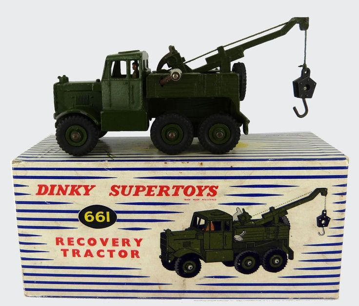 DINKY TOYS MILITARY SCAMMELL RECOVERY TRACTOR  No 661 ( EXCELLENT & BOXED