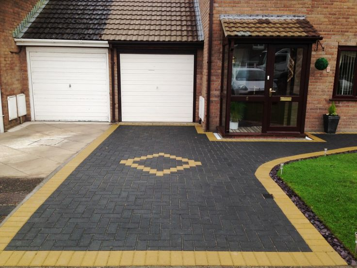 Block Paving in Charcoal with Buff Borders in Westgate Morecambe