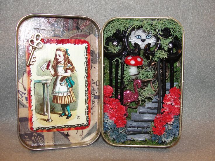 SALE Altered Altoids Tin Shadow Box Entering by ApeNsons on Etsy