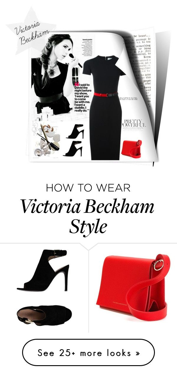 """Victoria Beckham"" by linkfari on Polyvore featuring Victoria Beckham, Tory Burch and contestentry"
