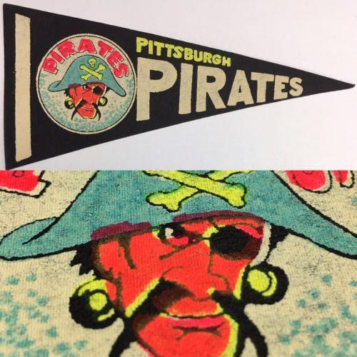 1960-039-s-Vintage-Pittsburgh-Pirates-Baseball-Mlb-4x8-5-Mini-Pennant-Flag