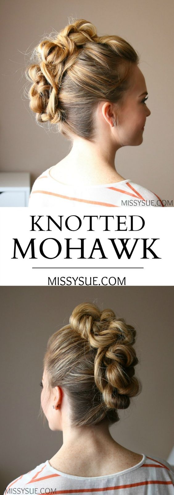 best mohawk tutorials images on pinterest hair dos african