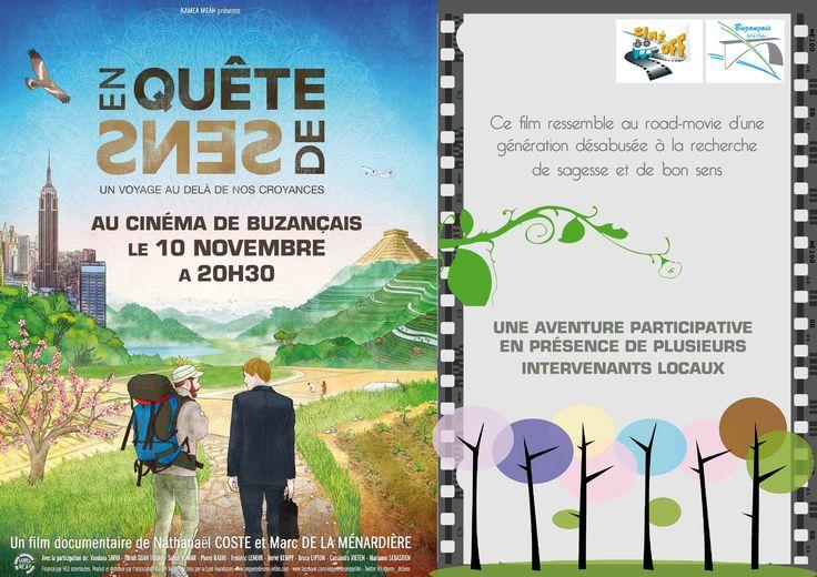 En quête de sens, Buzançais, Cinéma de Buzançais - Centre Culturel Jean Bénard, 9 place de Verdun, Mardi 10 Novembre 2015, 20h30
