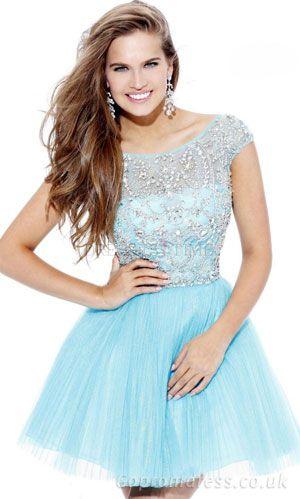 blue short sleved cindrella dress ,but short