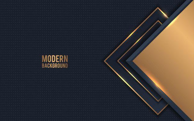 Golden Metallic Abstract Background Vector In 2020 Abstract