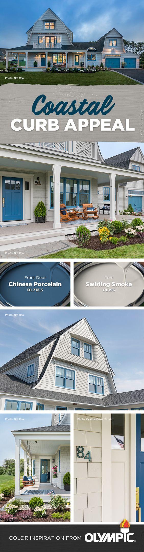 Beach House: Gorgeous Exterior Features. Rhode Island Beach House Exterior  Color Scheme ...